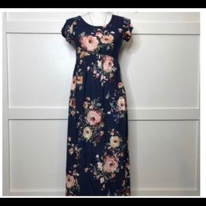 Navy Floral Maxi size small